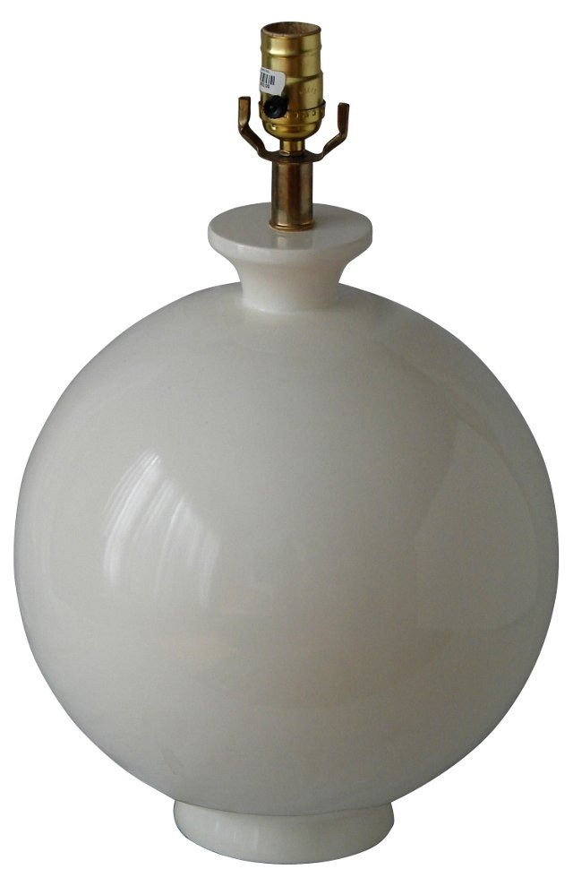 Spherical Ivory Lamp