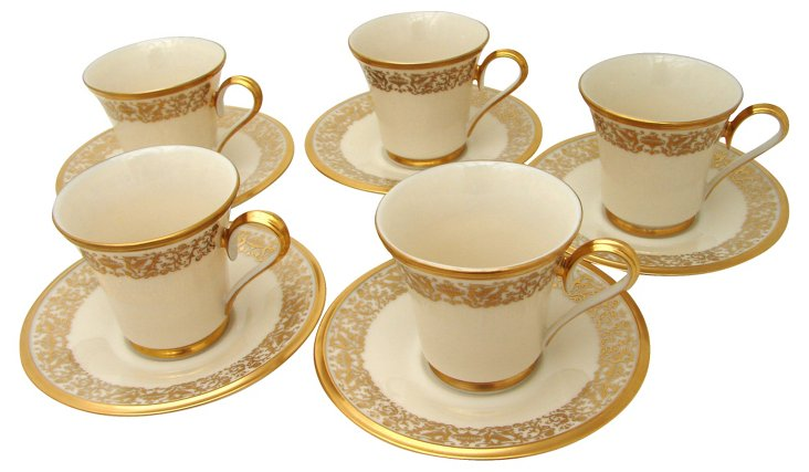 Lenox Tuscany Coffee Cups, S/5