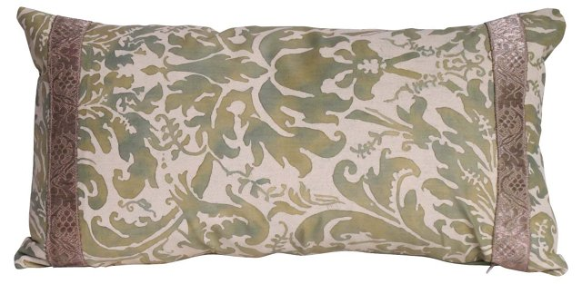 Fortuny Pillow w/ Antique Trim