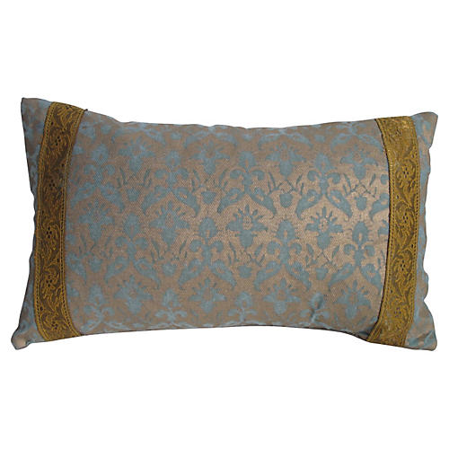 Fortuny Pillow w/ Metallic Trim