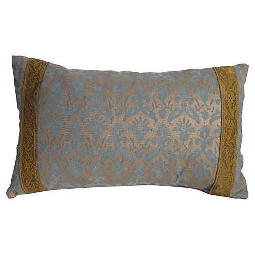 Fortuny Pillow w/ Metallic Trim