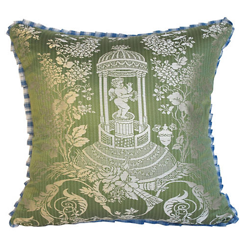 Silk Damask Pillow