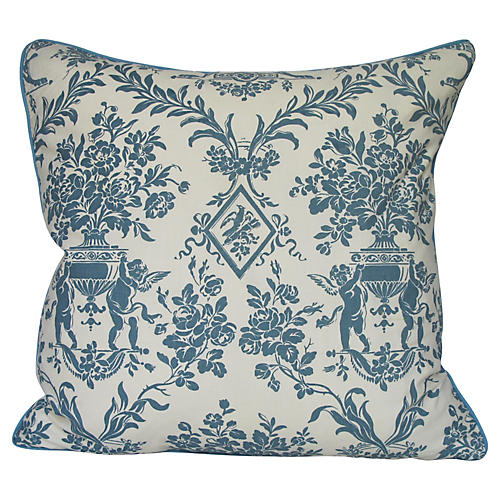 Toile Pillow w. Cupids
