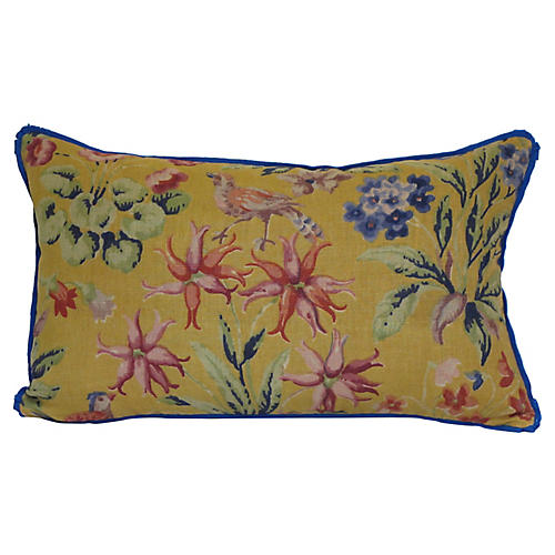 English Floral Pillow