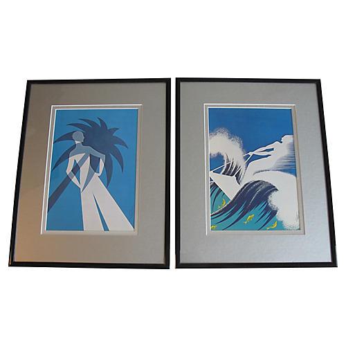 Limited Edition Erté Prints, S/2