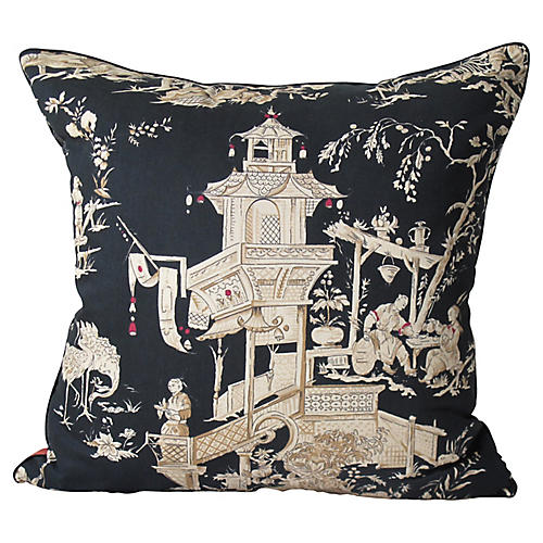 Chinoiserie Print Pillow