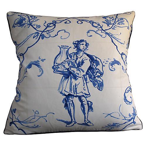 Delft Tile Toile Pillow