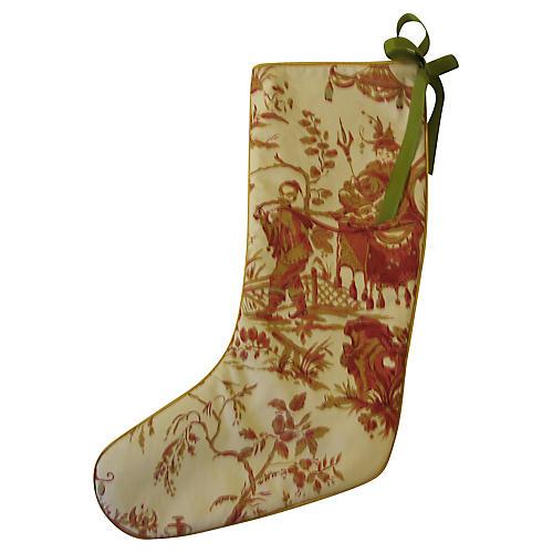 Chinoiserie Holiday Stocking