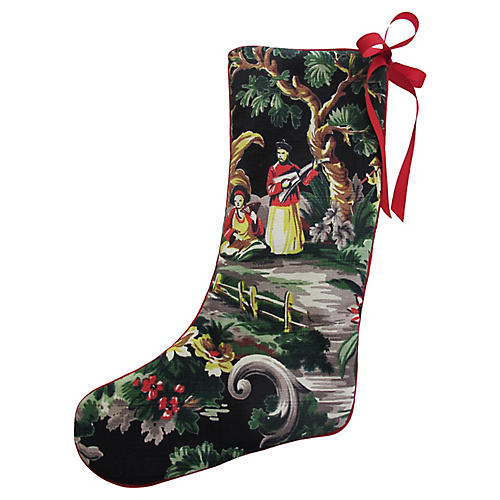 Chinoiserie Stocking