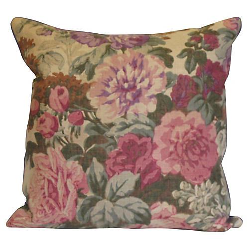 Floral Linen Pillow