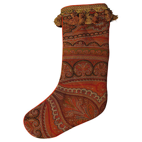 Antique Paisley Stocking