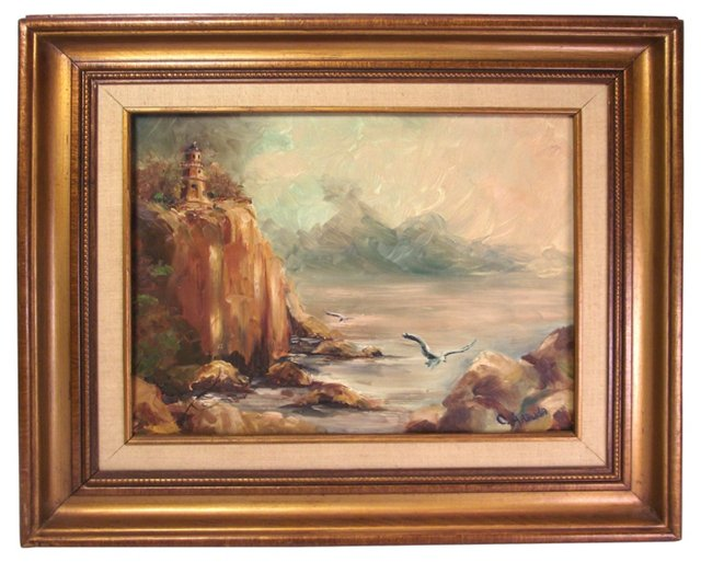 Seascape w/ Lighthouse
