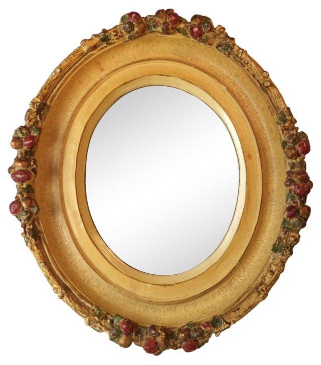 Oval Mirror w/ Fruit Decoration
