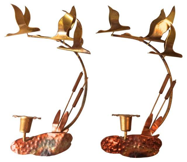 C. Jeré-Style Sconces, Pair