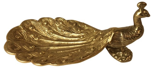 Brass Peacock Dish