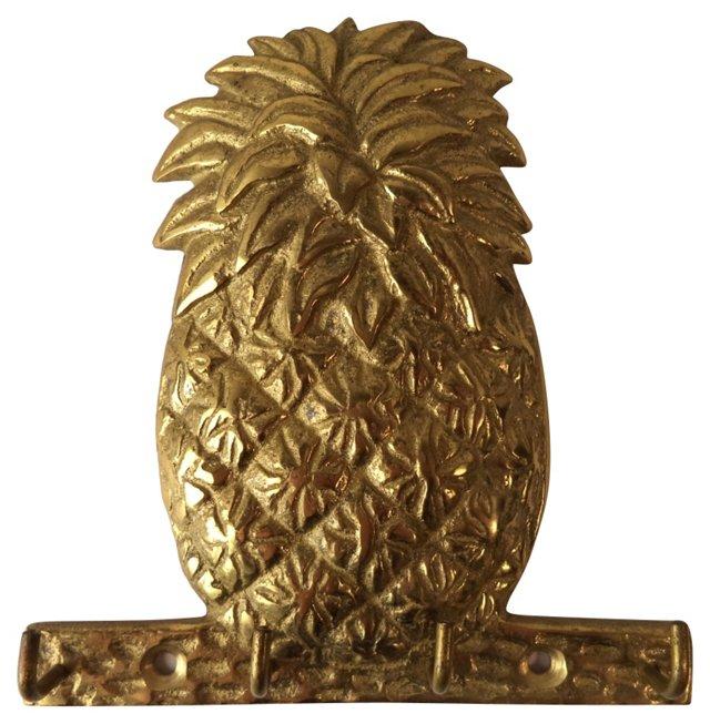 Brass Pineapple Key Hook