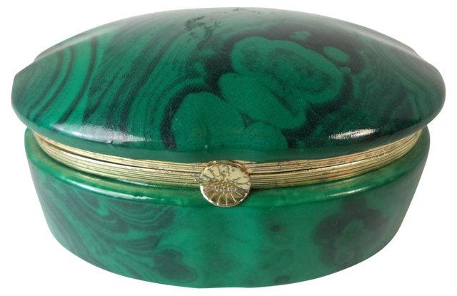 Faux-Malachite Trinket Box