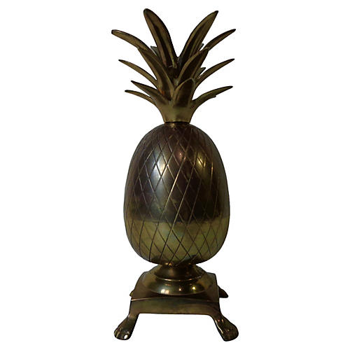 Footed Brass Pineapple