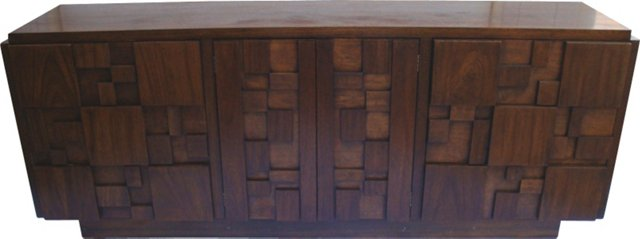 1970s Brutalist-Style Credenza