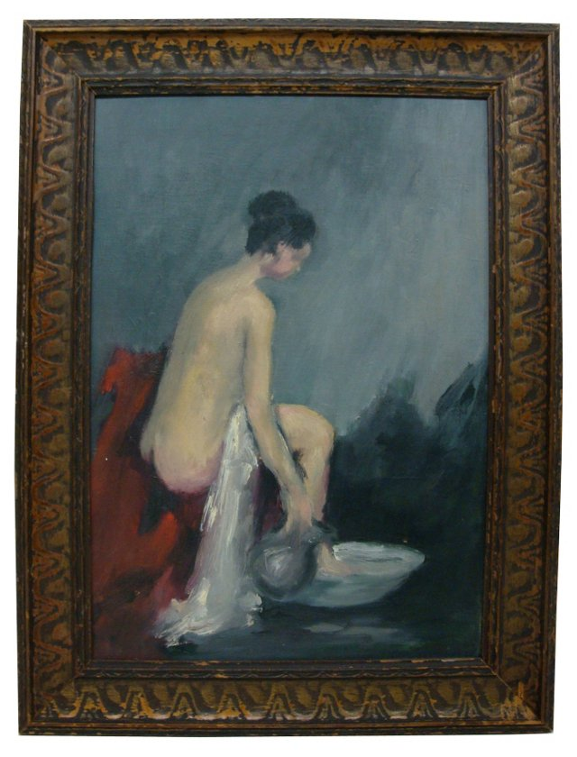 Nude Bather w/ Red Robe