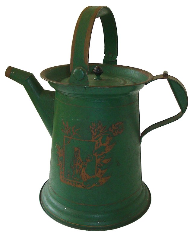 Antique French Chinoiserie Coffeepot