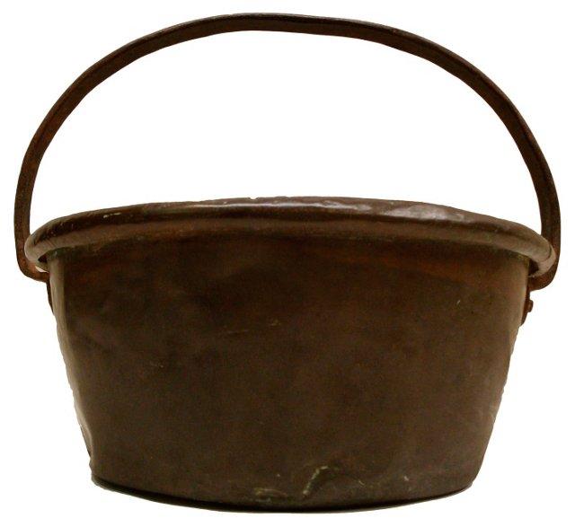Antique Handwrought Copper Bucket