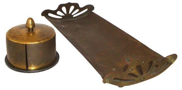 Brass Stamp Roll & Pen Tray