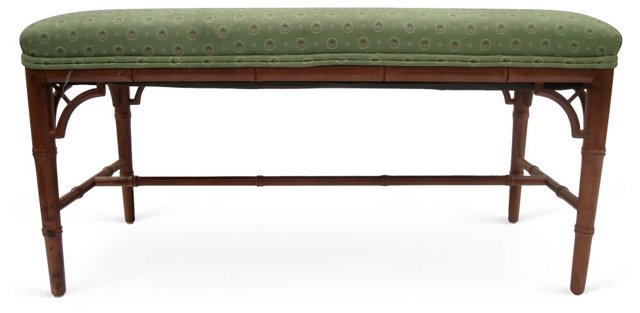 Faux-Bamboo Bench