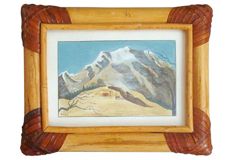 Miniature Homestead Snowscape