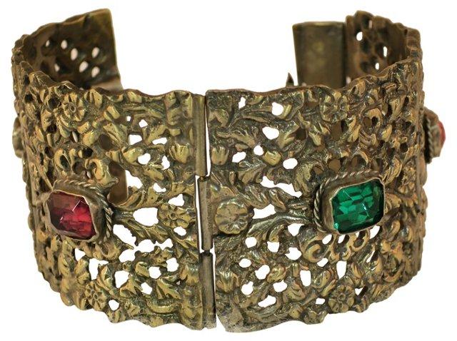 1940s Italian Silver Hinged Bracelet