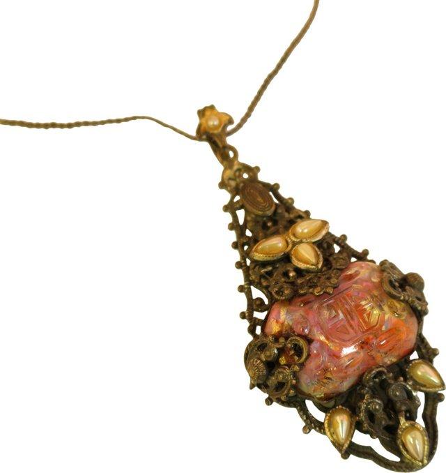 Chinese Art Glass Pendant