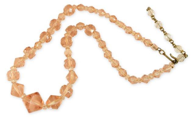 Peach Crystal Necklace