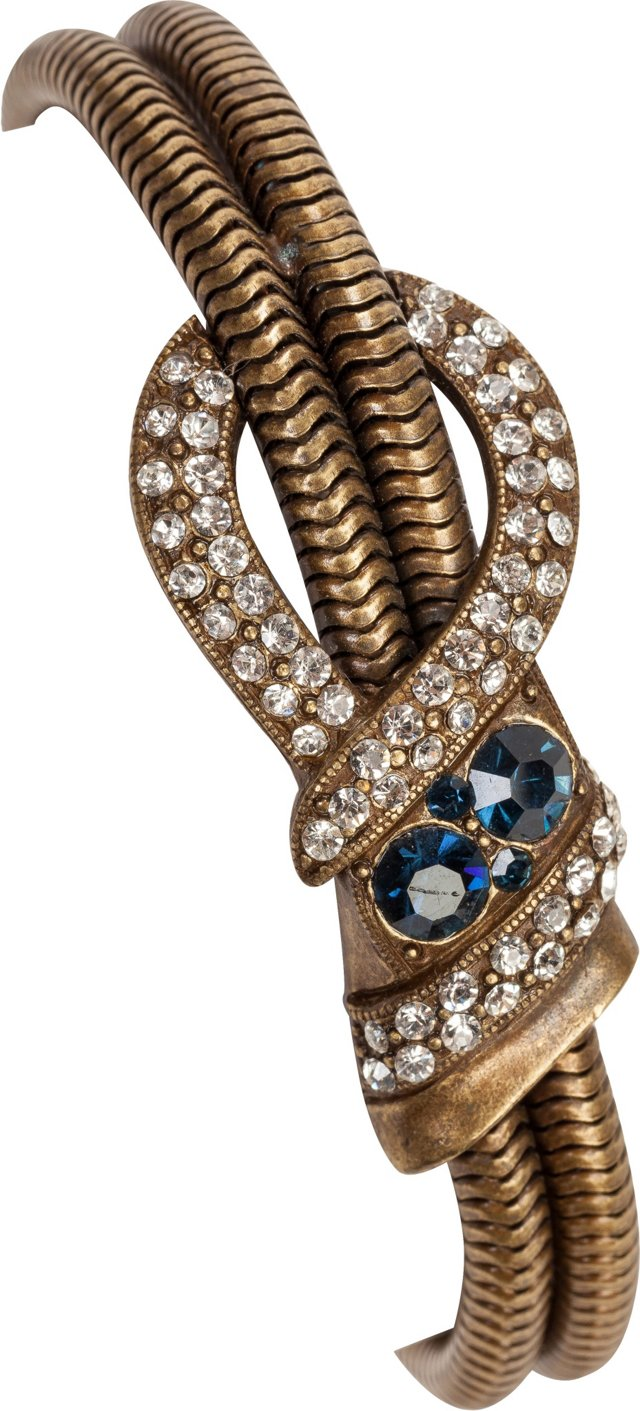 Snake Chain Sapphire Crystal Bracelet