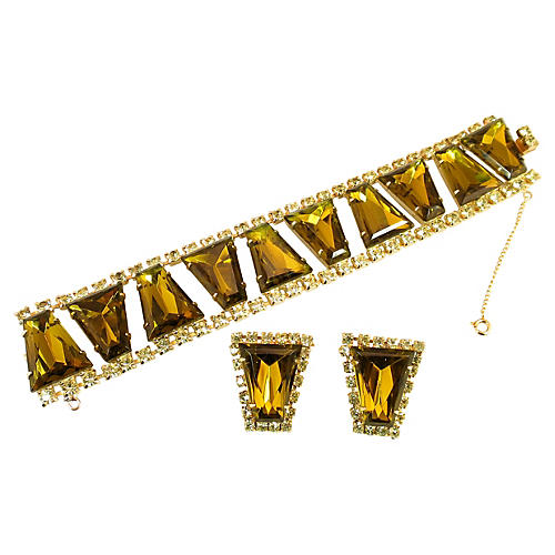 1960s Juliana Geometric Bracelet Suite