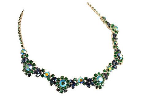 Trifari Emerald Crystal Necklace