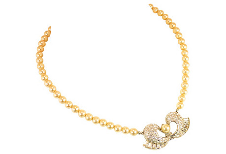 Marvella Pearl & Crystal Choker Necklace