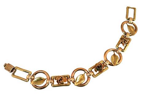 Diana Floral Link Gold Bracelet