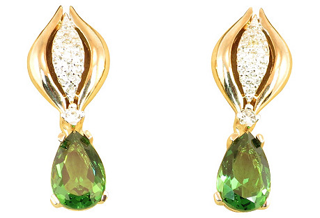 Panetta Emerald Dangle Earrings