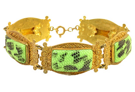 1920s Czech Egyptian Revival Bracelet