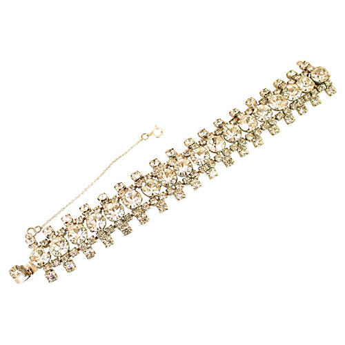 1950s Chaton Crystal Bracelet
