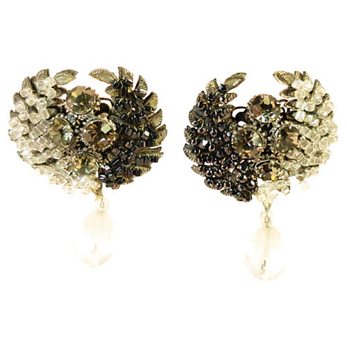Sandor Beaded Wreath Earrings