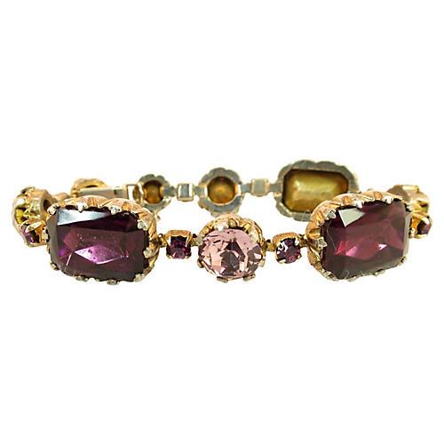 Amethyst & Lavender Crystal Bracelet Set