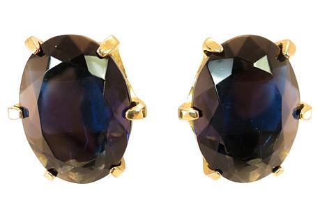 Bellini Sapphire Crystal Earrings