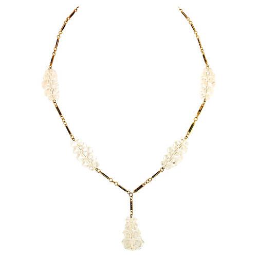 Edwardian Rock Crystal & Enamel Necklace