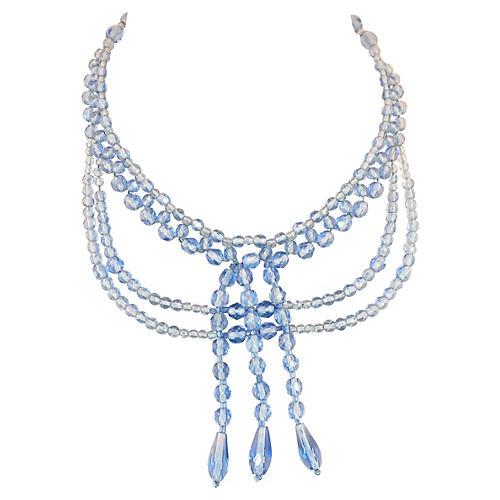Edwardian Crystal Bib Necklace