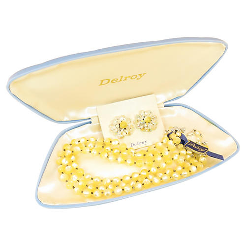 Delroy Faux-Mother-of-Pearl Necklace Set