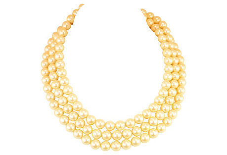 1980s Cacharel Faux-Pearl Necklace