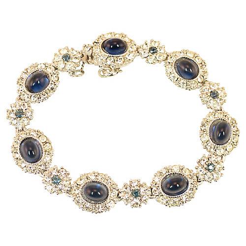 Ciner Faux-Sapphire & Crystal Bracelet