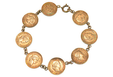 Swiss Coin Bracelet