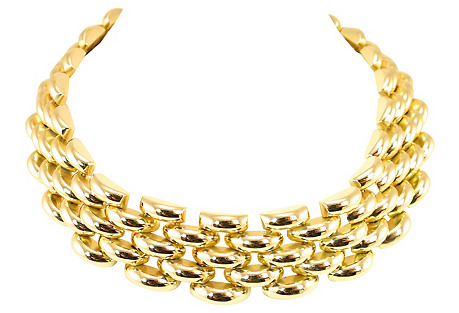 Rivo Swiss Crescent Link Necklace